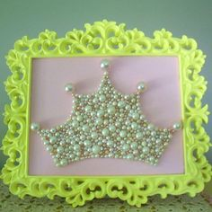 Pearl Princess Crown Art Large Mosaic wall art by berryisland, $75.00