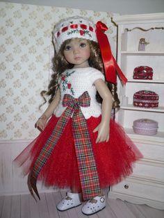 Christmas set for Dianna Effner Little Darling 13 inch doll - blouse, skirt, hat | eBay