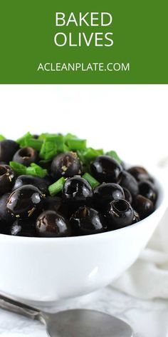 These Mediterranean Baked Olives are a delightful kind of tapas, which can be served on bread, salads, fish, or just eaten by itself!#bakedolives#dairy-free Fodmap Recipes, Paleo Recipes, Real Food Recipes, Easy Recipes, Snack Recipes, Dairy Free Appetizers, Dairy Free Snacks, Clean Plates, Quick Snacks