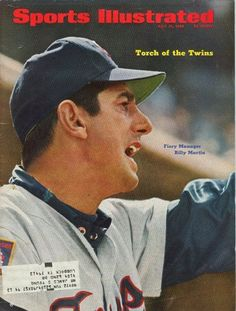 1969 Sports Illustrated MINNESOTA TWINS Billy MARTIN Fiery Manager TORCH OF TWIN