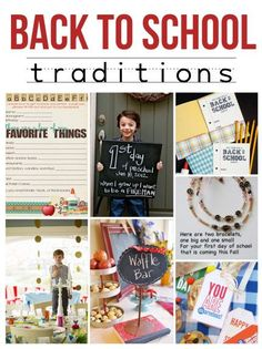 Back to School Traditions for families! Such fun ideas! www.overthebigmoon.com