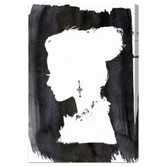 Canvas print showcasing a woman's silhouette. Made in the USA.   Product: Wall artConstruction Material: Gallery-wrap...