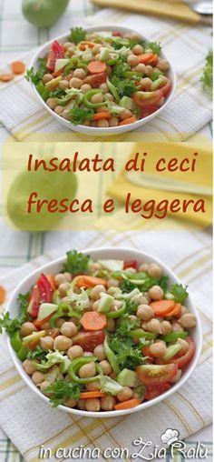 Insalata di ceci e pomodori - In cucina con Zia Ralù Friends Recipe, Zia, Vinaigrette, Food Food, Pasta Salad, Meals, Ethnic Recipes, Blog, Lavender