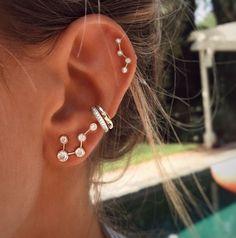 Star Set 5 Diamond Ear Cuff