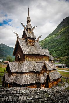 Borgund Stave Church, believed to be built in 12th century and is Norway's oldest church. #stavkirke ☮k☮ #Norge