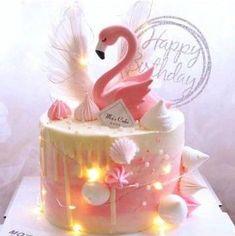 Flamingo Party, Flamingo Cake, Flamingo Birthday, Flamingo Decor, 2 Year Old Birthday Cake, Birthday Cake With Candles, Birthday Cake Girls, 26 Birthday, Valentinstag Party