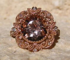 Hey, I found this really awesome Etsy listing at https://www.etsy.com/listing/210411028/morganite-engagement-ring-rose-gold