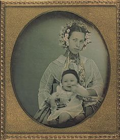 Unidentified (possibly) Portuguese or Brazilian mother and baby 1855.