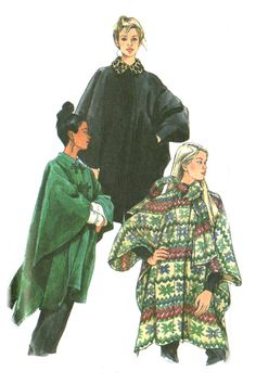 Simplicity 8403 Easy Cape / Poncho Pattern$6.95, via Etsy.