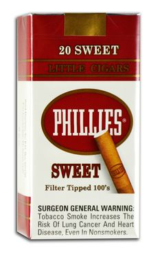 Phillies Little Cigars Sweet 100'S  Phillies Sweet 100's Little Cigars are delicious sweet cigars that are sure to become your everyday favorite. These machine-made cigars are loved for their unique taste and petite size.