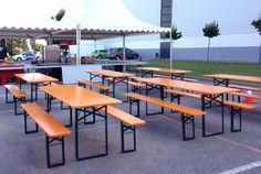 Mesas plegables para evento en  Seat, mesas cerveceras de alquiler