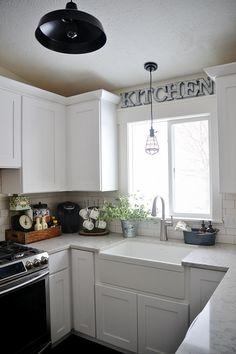 DIY Metal Letter Industrial Kitchen Sign -