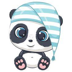 Cartoon Baby Animals, Baby Animal Drawings, Cute Baby Animals, Cute Drawings, Wild Animals, Panda Kawaii, Cute Panda Cartoon, Cute Cartoon Pictures, Moon Cartoon