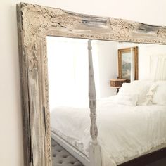 Shabby Chic Mirror Bathroom Large Vanity Baroque Wall Ornate Custom Colors