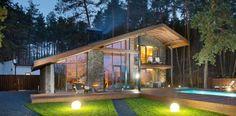 Chalet 2.0 entre pierre et bois par YOD Design Lab – Poltava – Russie   Construire Tendance