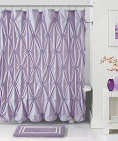 Loving this Lavender Fiona Shower Curtain, Hooks & Bath Rug on #zulily! #zulilyfinds