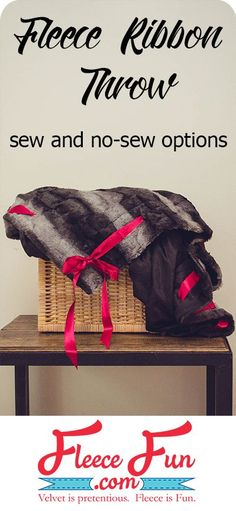 I love this easy to make fleece throw. It looks so cozy. There are sew and no sew options. Great DIY idea.This easy to follow tutorial is perfect for a handmade gift. #sewing #sewingforbeginners #nosewproject #crafting Fleece Tie Blankets, Fleece Throw, Quilting For Beginners, Sewing Projects For Beginners, Quilting Tips, Craft Tutorials, Sewing Tutorials, Craft Ideas, Sewing Tips