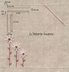 Supreme Best Stitches In Embroidery Ideas. Spectacular Best Stitches In Embroidery Ideas. Crystal Embroidery, Simple Embroidery, Learn Embroidery, Silk Ribbon Embroidery, Embroidery Applique, Cross Stitch Embroidery, Embroidery Patterns, Cross Stitch Patterns, Marie Suarez