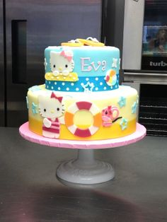 Hello Kitty beach cake - For all your cake decorating supplies, please visit craftcompany.co.uk