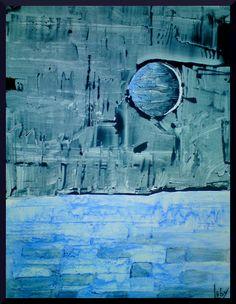 Coup de cœur du concours peinture abstraite sur www.myrankart.com Astre Bleu by Luby Naudet