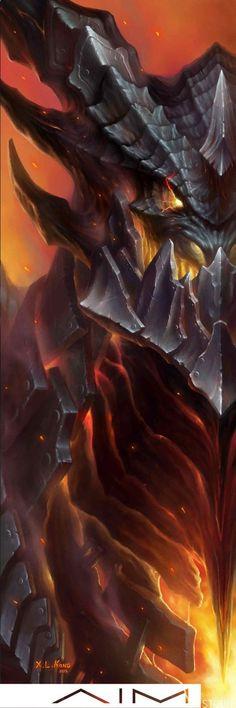 World of Warcraft Art Board ^^ // Blizzard // wow // // Digital // Geek // DeathWing World Of Warcraft, Warcraft Art, Dark Fantasy Art, Fantasy World, Fantasy Creatures, Mythical Creatures, Grommash Hellscream, Illidan Stormrage, Illustration Fantasy