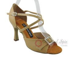 Natural Spin Latin Shoes(Open Toe, Adjustable):  M1112-02_157BeBrP
