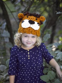 d0e8a4a9c2f Lion Hat Pattern (Crochet) Crochet Animal Hats