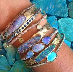 ❥ Beautiful Opal Bracelets