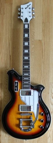 Eastwood certainly make some odd looking guitars - here's their Airline MAP in Sunburst Finish