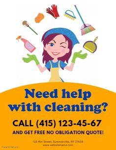 Copy of Cleaning Services Flyer Cleaning Service Flyer, Cleaning Flyers, Deep Cleaning Services, Cleaning Business Cards, Cleaning Companies, Flyer Free, Promotional Flyers, Business Flyer, Business Ideas