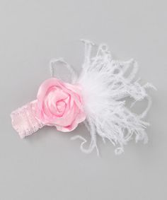 Another great find on #zulily! Caught Ya Lookin' Pink Feather Flower Headband by Caught Ya Lookin' #zulilyfinds