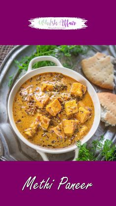 Paneer Curry Recipes, Methi Recipes, Spicy Recipes, Easy Chicken Recipes, Paneer Korma Recipe, Paneer Recipe Video, Cooking Recipes Veg, Indian Chicken Recipes, Amish Recipes