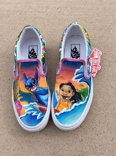 Custom painted shoes | Disney's Lilo & Stitch | Megan Padilla