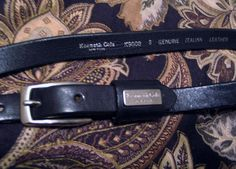 Women's KENNETH COLE NY Belt Italian Leather Size Small K90089 Black Silverplate #KennethCole #casual