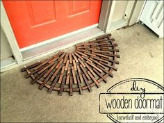 Step-by-step instructions for building a half-circle wooden doormat (Sawdust & Embryos)