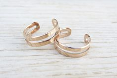 Rose gold ring Stacking rings 14k goldfilled by HLcollection