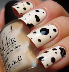 LOL...dalmatian nails!  Or cow, I suppose...