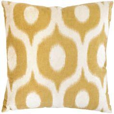 Printed Velvet Pillow - Honey   Pier 1 Imports