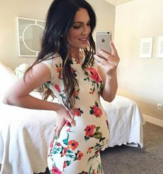 Love this rosy dress.