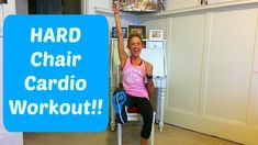 Stay fit with an injury or disability with this challenging Chair Cardio workout video that works your heart and your muscles. Weight Bearing Exercises, Cardio Training, Chair Exercises, Glute Exercises, Channel, Fitness Inspiration Body, Cardio Routine, Workout Schedule, Low Impact Workout