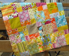 stephjacobson: 36 charm squares, Disappearing Nine-Patch quilt