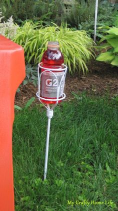 Make a beverage holder for your yard
