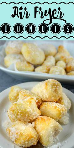 Air Fryer Recipes Dessert, Air Fryer Recipes Low Carb, Air Fryer Recipes Breakfast, Breakfast Dishes, Donut Recipes, Snack Recipes, Cooking Recipes, Cooking Food, Easy Recipes