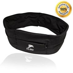 Running Belt - Waist Pack Belt - No Comfortable Straps Unlike Other Runners Belts, Fitness Belts or Hydration Belts - Great for Cell Phones - Black - Large - 4 Pockets