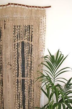 Jute Door Curtain - The Dharma Door. Perfect for a beach or boho vibe! www.thedharmadoor.com.au