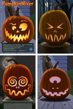 Halloween jack 'O' lantern carving ideas Citouille Halloween, Courge Halloween, Holidays Halloween, Halloween Pumpkins, Halloween Pumpkin Carvings, Halloween Pumpkin Designs, Halloween Recipe, Halloween Lanterns, Halloween Clothes