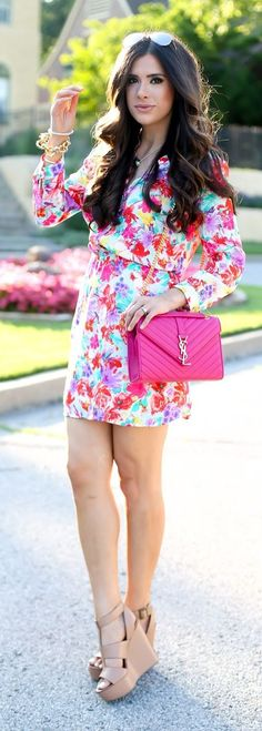 Floral Shirt Dress Summer Style by The Sweetest Thing