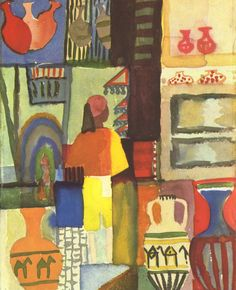 Dealer with jugs by @augustmacke #expressionism