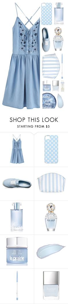 """""""Blue"""" by fanfanfann ❤ liked on Polyvore featuring WithChic, Vans, Catherine & Jean, Orlane, Marc Jacobs, La Prairie and REN"""