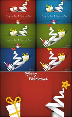 origami xmas cadrs vector Christmas And New Year, Christmas Crafts, Merry Christmas, Origami Xmas Tree Card, Scrapbook Designs, Paper Background, Party Invitations, Balloons, Fonts